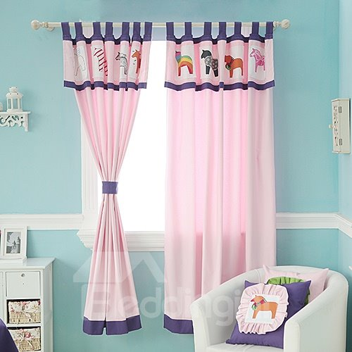 Pink Little Horses Design Kid