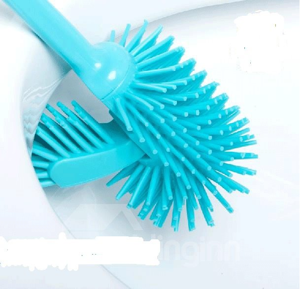 Creative Pappus With Bottom Sit  Toilet Brush Set