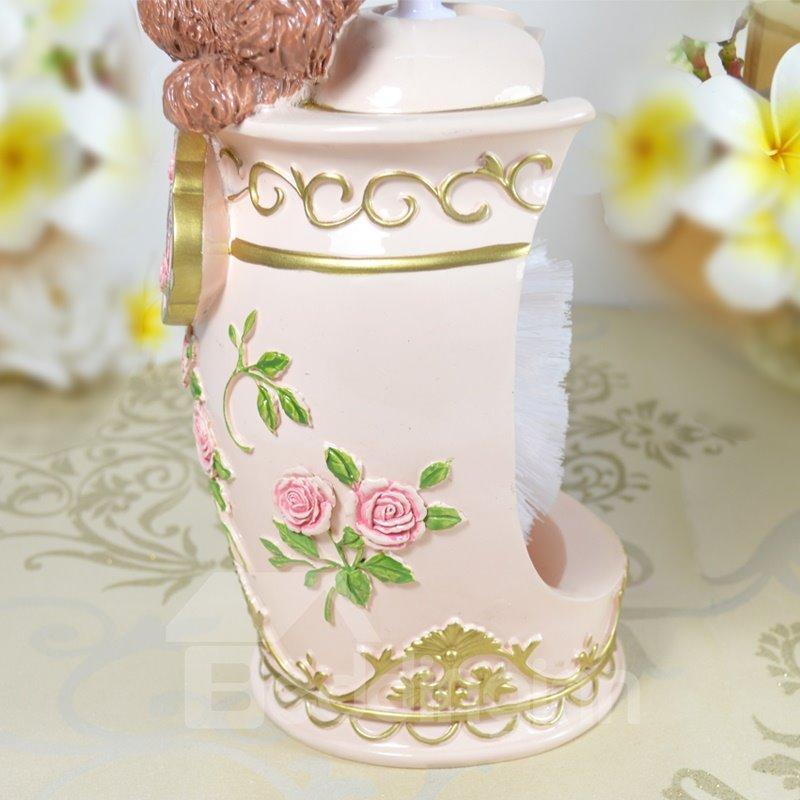 New Style Cute Winnie Toilet Brush  Holder
