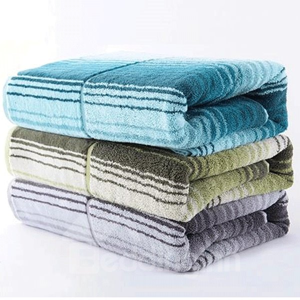 Sydney Style Pure Cotton Stripe Soft Bath Towel