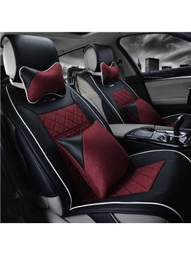 Slip Resistance Comfortable Material Contrast Color Design Car Seat Covers