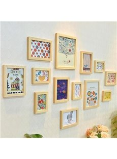 Top Selling European Style Wood Wall Photo Frame Set