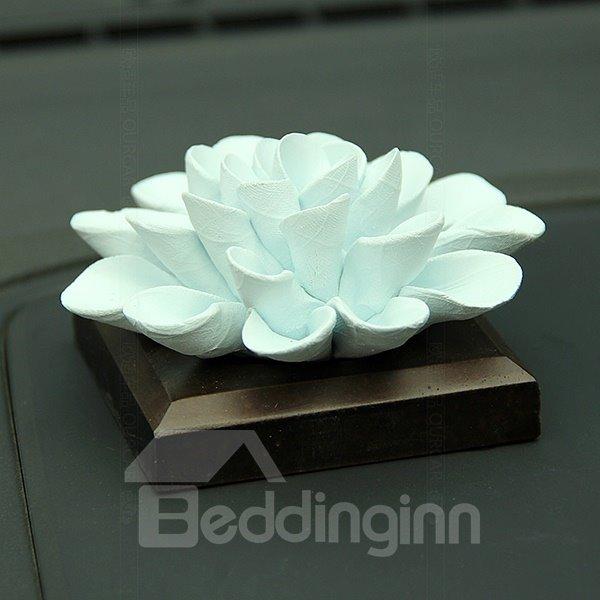 Exquisite Handmade Ceramic Ocean Flowers Car Fragrance Base