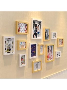 Fantastic European Style Wood Wall Photo Frame Set