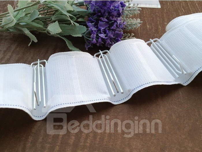 White Paint Dyeing Stainless Steel Pleat Curtain Hooks