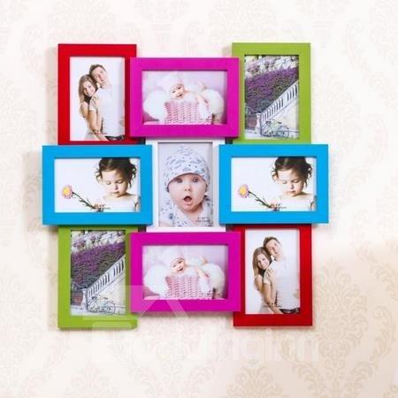Modern Creative 9-Piece Wall Photo Frame Set