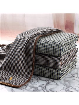 POLO Gauze Looped Pile Europe Type English Grid Bath Towel
