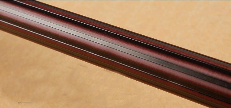 Durable Black Walnut Wood Noise-free Window Curtain Rod