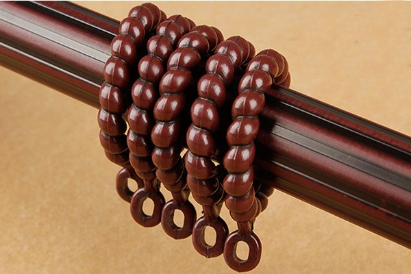 Durable Black Walnut Wood Noise-free Double Curtain Rod Set