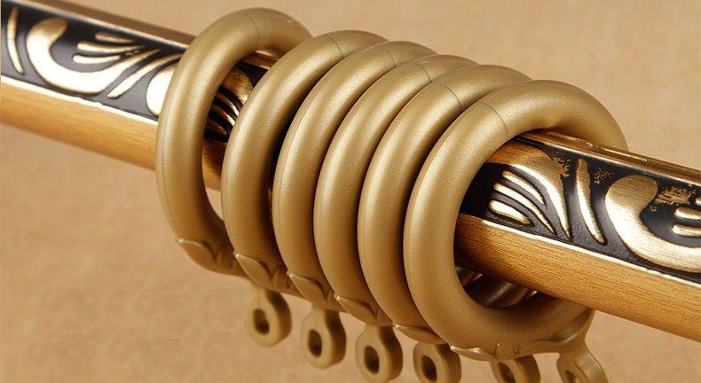 Baroque Syle Anti-corrosion Polished Copper Curtain Rod Set