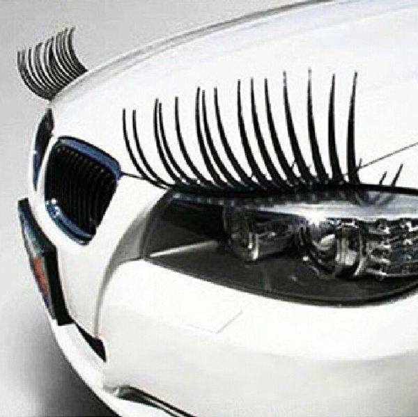 Cute Eyelash Car Sticker For The Two Headlights Hot Popular Car Sticker