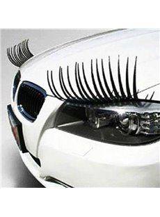 Cute Eyelash Car Sticker for the Two Headlights