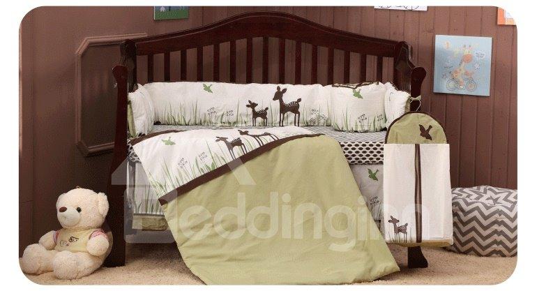 Adorable Deer  Piece Crib Bedding Sets