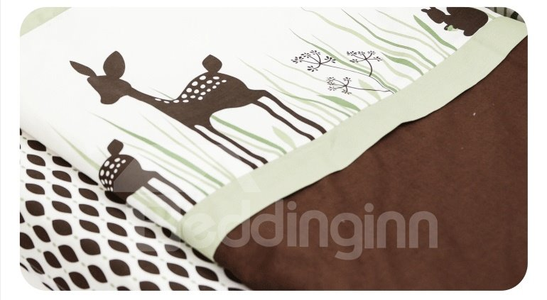Adorable Deer 8 Piece Crib Bedding Sets Beddinginn Com