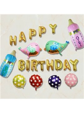 Aluminum Film Baby Birthday Balloons Decor