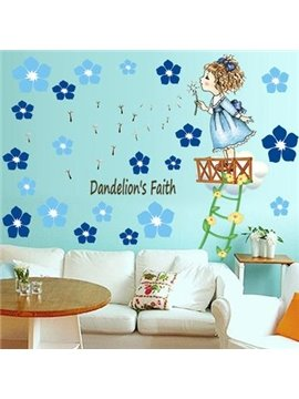 Amazing Pretty Dandelion Angel Wall Stickers