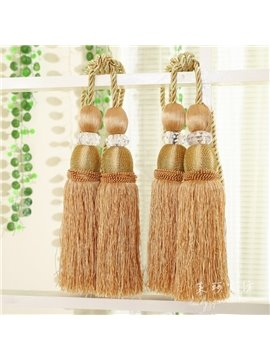 Luxury Golden Decorative Curtain Tiebacks