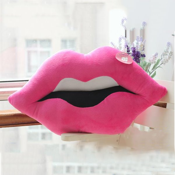 Multicolor Choice Lips Shape Plush Throw Pillows