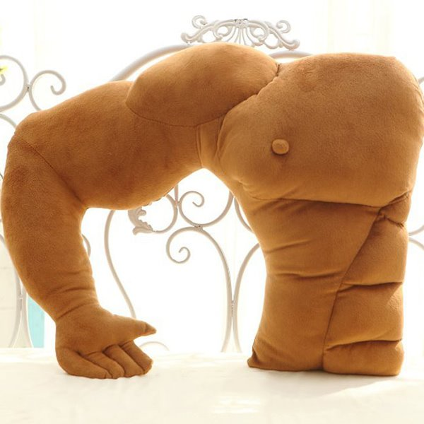 Funny Muscle Man Boyfriend Creative Throw Pillows