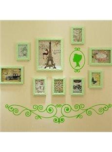 Wonderful 9-Piece Wall Photo Frame Set with Free Wall Stickers