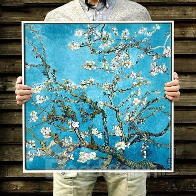Classic Apricot Flower Van Gogh Print for Decoration