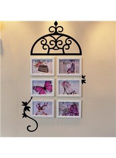 Vines Style 6-Piece Wall Photo Frame Set with Stickers