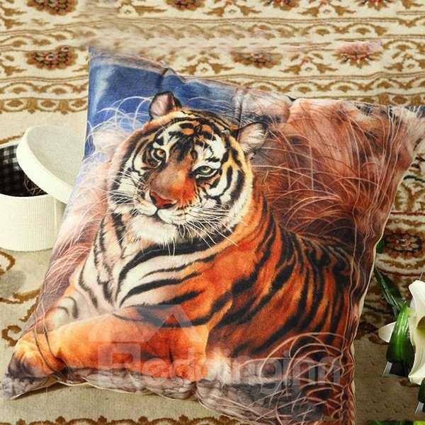The Lying Tiger Printing Polyster Throw Pillow