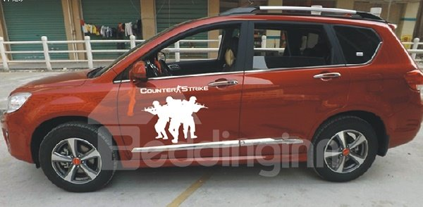 Super Cool Fighting Solider Car Sticker
