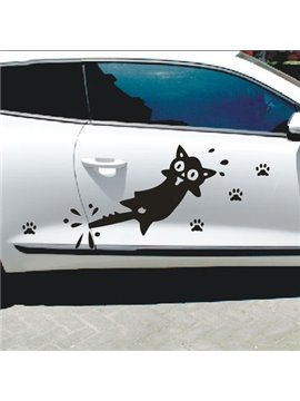 The Screaming Clipping Tail Cat Car Sticker