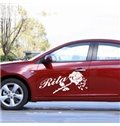 Wonderful Rose And English Letters Car Sticker