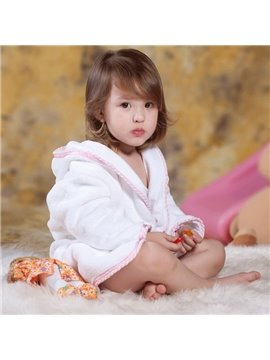 100% Cotton Material Cut Pile towel Kids Robes