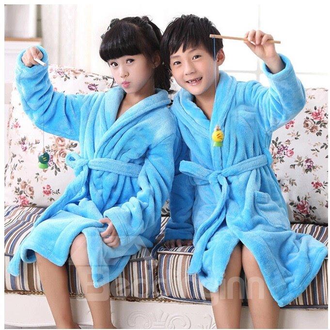 Coral Fleece Thicken Leisure Wear  Kids Robes