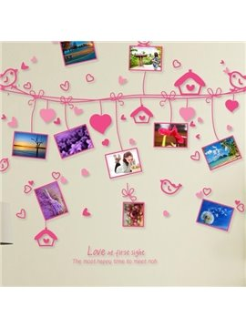 Popular Pretty Love Birds Photo Frame Wall Stickers