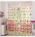 Elegant Beautiful Butterfly Printing Sheer Curtain