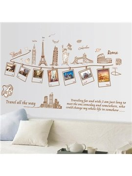 Fantastic Traveling Around the World Wall Stickers