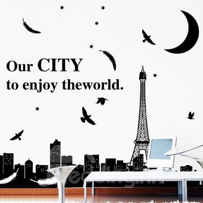Fantastic Pretty Scenery of City Wall Stickers