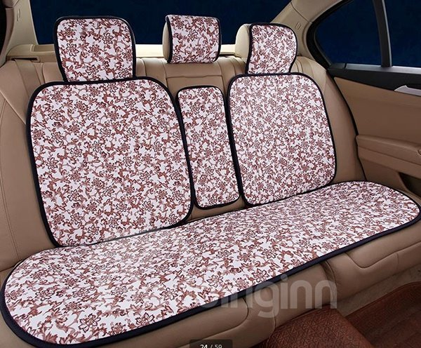 Blue and White Porcelain Style High Grade Leather Car Seat Covers