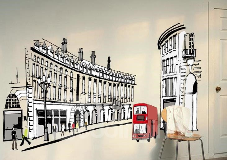 Top Selling Popular Streets of Rome Wall Stickers