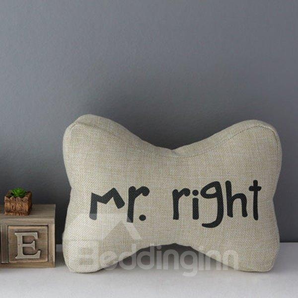 Mr. Right Linen Car Neckrest Pillows