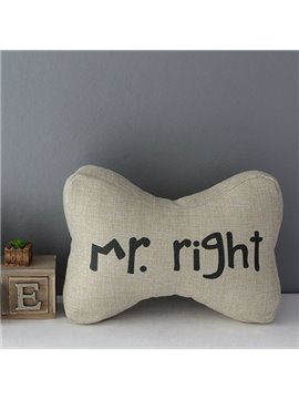 Mr. Right Linen Car Neckrest Pillows