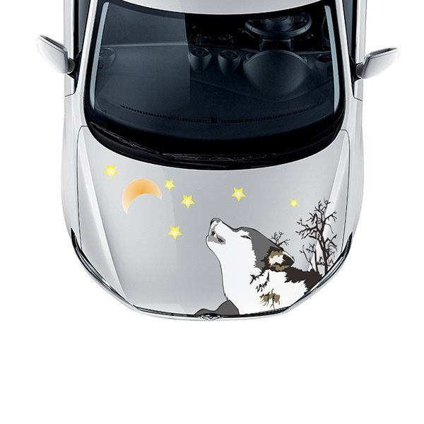 The Howling Wolf PVC Car Sticker