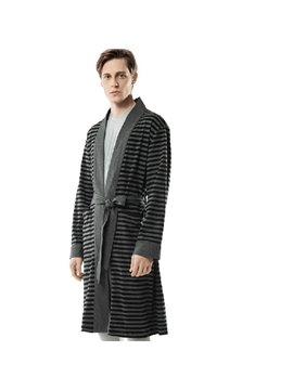 Knitted Cotton  Loose  Men's Bathrobe
