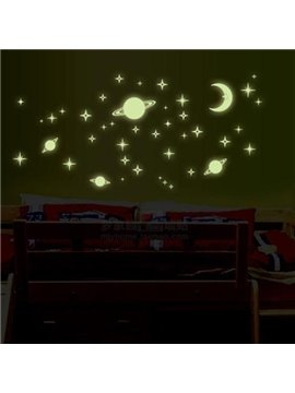 Amazing Planet 5-Piece Luminous Wall Stickers