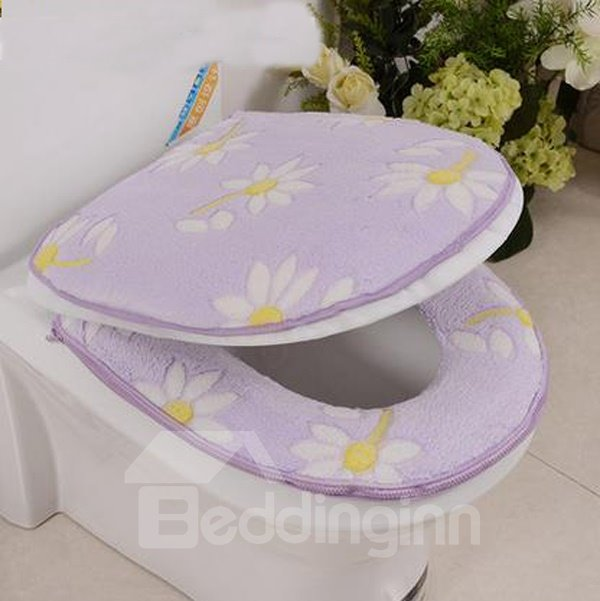 thicken warmth sunflower 2 piece set toilet seat covers. Black Bedroom Furniture Sets. Home Design Ideas
