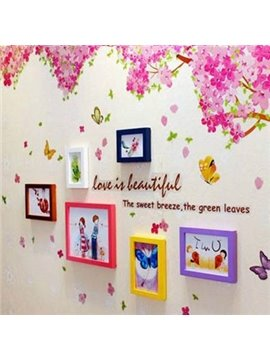 Top Classic Colorful Wall Photo Frame Set with Wall Stickers
