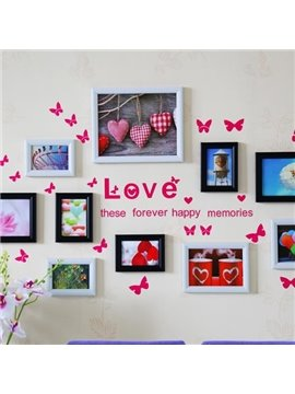 Amazing Polymer Materials Photo Frame Set with Wall Stickers