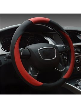 Passionate Red Black Matching Feather Steering Wheel Cover