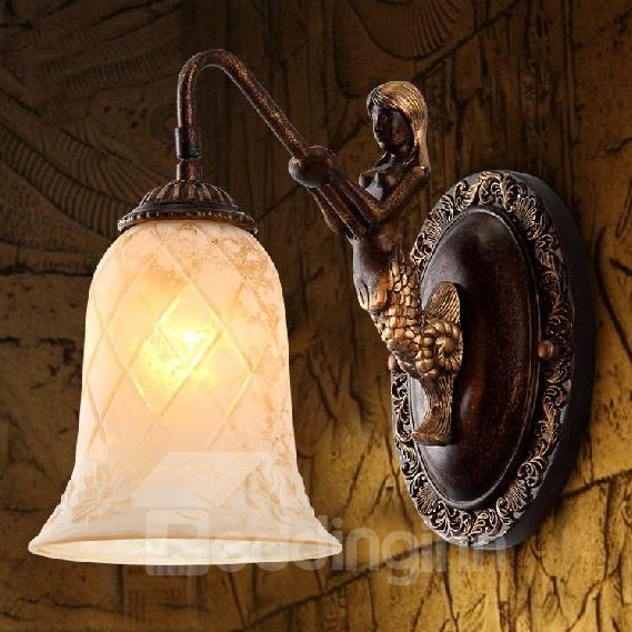 Fantastic European Style Little Mermaid 1-Head Wall Light