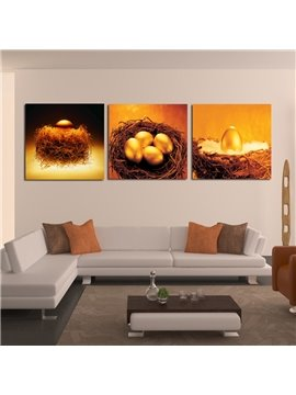 Top Selling Golden Eggs 3-Piece Crystal Film Art Wall Print