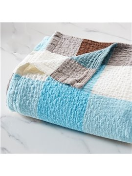 Cells Patchwork Soft Cotton Blanket